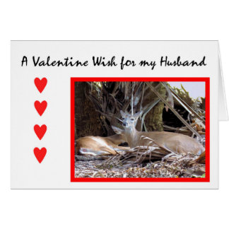 Valentine's Day Card for Husband with Deer