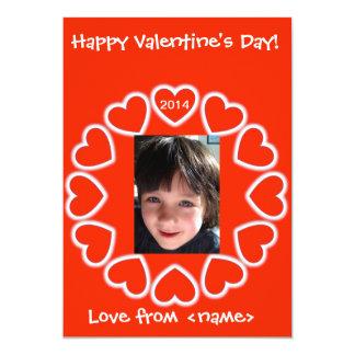 Valentine's Day card for kids English & Spanish 13 Cm X 18 Cm Invitation Card