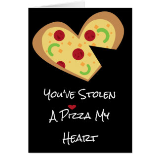 Valentines Day Card - Pizza My Heart