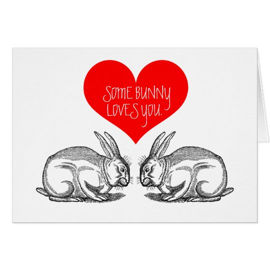 "Valentine's Day Card: ""Some bunny loves you."" Card"