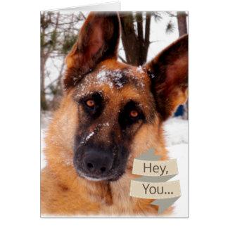 Valentine's Day Card with German Shepherd