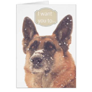 Valentine's Day Card with German Shepherd