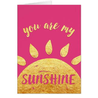 Valentine's Day Card - You Are My Sunshine