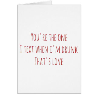 Valentine's Day card you're the one