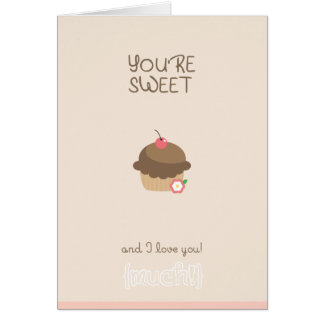 Valentine's Day Cards: You are so sweet Greeting Card