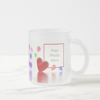 Valentines Day Celebration (photo frame) Frosted Glass Mug