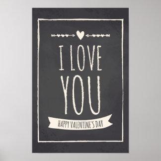 Valentine's Day Chalkboard Poster