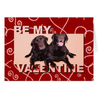 Valentines Day Chocolate Labradors Card
