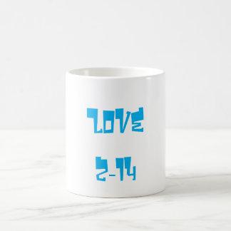 Valentine's Day Classic Love Mug Azure Basic White Mug