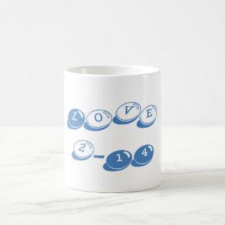 Valentine's Day Classic Love Mug Cyan-Blue Azure