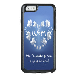 Valentine's Day Cloud Heart Monogram OtterBox iPhone 6/6s Case