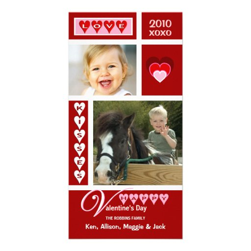 Valentine's Day Collage Photo Cards