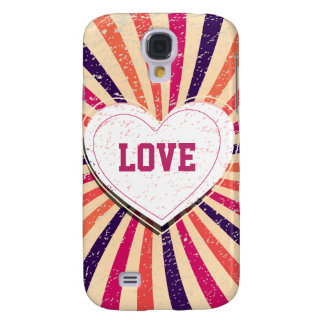 Valentines day colorful love design with heart galaxy s4 case