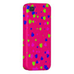 Valentine's Day Colourful Hearts Phone Case Case For iPhone 4