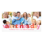 Valentine's Day Colourful Letters 5 Photo Photo Card Template
