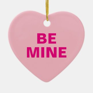 Valentine's Day Conversation Heart Christmas Ornament