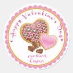 Valentine's Day Cookie Stickers Goodie Bag Sticker