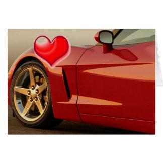 Valentine's Day Corvette Card