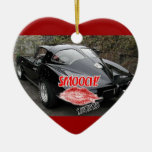 Valentine's Day Corvette Ceramic Heart Decoration