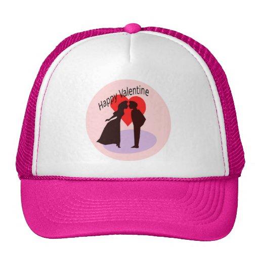 Valentine's Day Couple Mesh Hat