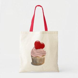 Valentine's day cupcake tote bag