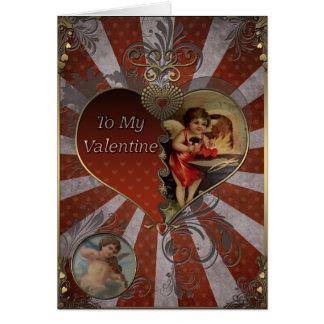 Valentine's Day - Cupid blacksmith hearts. Greeting Card