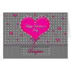 Valentine's Day - Daughter- Grey/Pink/Polka Dot Card
