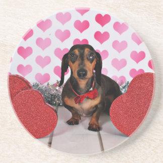 Valentine's Day - Dexter - Dachshund Coaster