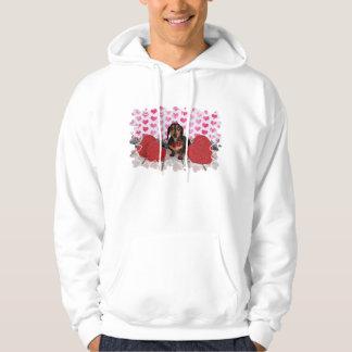 Valentine's Day - Dexter - Dachshund Hooded Sweatshirts