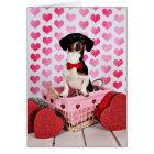 Valentine's Day - Ducky - Dachshund Card