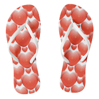 Valentines Day Flip Flops - 3D Hearts