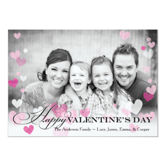 Valentine's Day Floating Hearts Card
