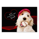 VALENTINE'S DAY - FRIEND - DOG WITH BASEBALL CARD