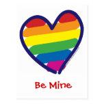 Valentine's Day Gay Pride Postcard