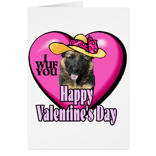 Valentine's Day German Shepherd Card