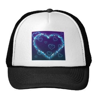 Valentine's Day Gift Blue Bling Heart Love Present Cap