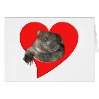 Valentine's Day Gifts, Wombat Love! Card