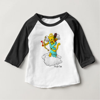 Valentine's Day Ginger Yellow Cupid Cat Baby T-Shirt