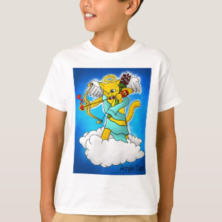 Valentine's Day Ginger Yellow Cupid Cat T-Shirt