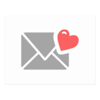 Valentine's Day Heart and Envelope Postcard