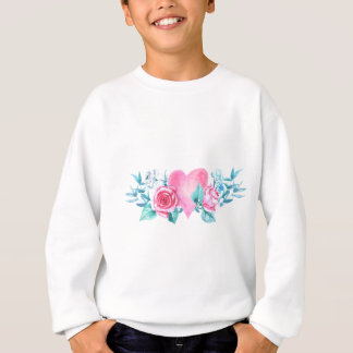 Valentine's Day Heart and Flowers Sweatshirt