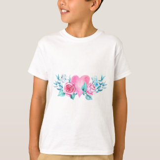 Valentine's Day Heart and Flowers T-Shirt