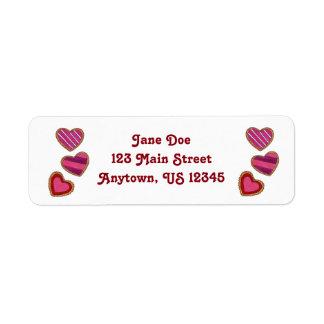 Valentine's Day Heart Cookie Return Address Labels