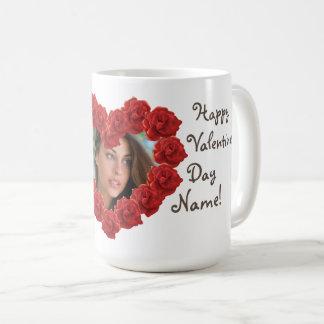 Valentine's day heart frame photo mug