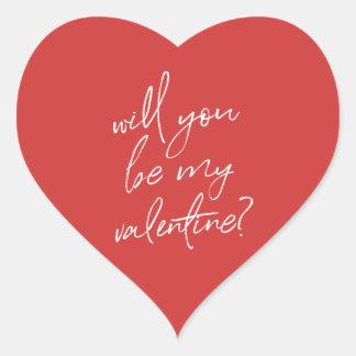 Valentine's Day heart sticker | Red