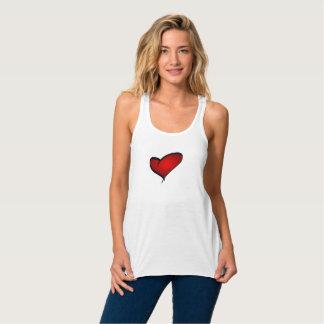 Valentine's Day heart tank top