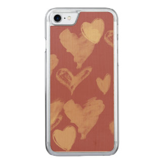 Valentines day hearts carved iPhone 8/7 case
