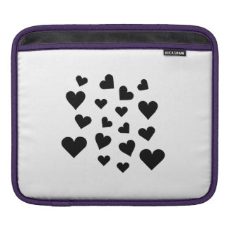 Valentine's Day Hearts Falling iPad Sleeves