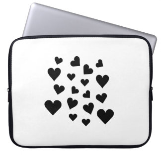 Valentine's Day Hearts Falling Laptop Sleeves