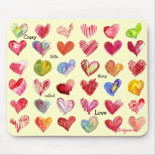 Valentines Day Hearts Mouspad Mouse Pads